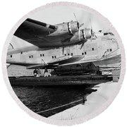 1930s 1940s Pan American Airways Flying Round Beach Towel
