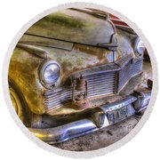 1930s Mercury With Lantern On Bumper Round Beach Towel