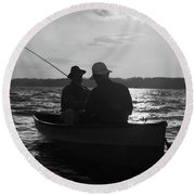 1930s Two Anonymous Men Wearing Hats Round Beach Towel