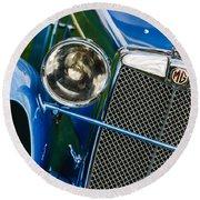 1932 Mg F1 Magna Grille -1363c Round Beach Towel