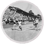 1932 Olympic Track Tryouts Round Beach Towel