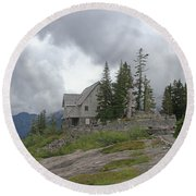1933 Ccc Forest Ranger Station At Mt Baker Washington Round Beach Towel