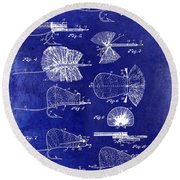 1934 Fly Fishing Lures  Round Beach Towel