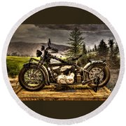 1934 Indian Chief Round Beach Towel