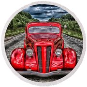 1935 Ford Window Coupe Round Beach Towel
