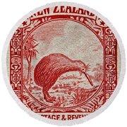 1936 New Zealand Kiwi Stamp Round Beach Towel