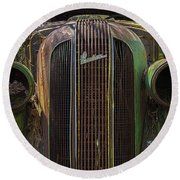 1936 Pontiac Head On Round Beach Towel
