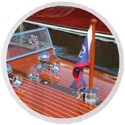 1937 Chris Craft Runabout Round Beach Towel
