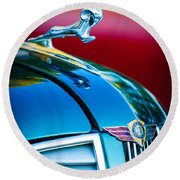 1937 Dodge Hood Ornament - Emblem Round Beach Towel