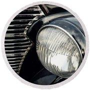 Round Beach Towel featuring the photograph 1938 Chevrolet Deluxe Sedan by Joseph Skompski