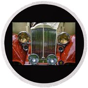 1928 Classic Packard 443 Roadster Round Beach Towel