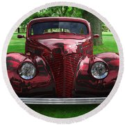 1938 Ford Coupe Round Beach Towel