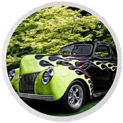 1939 Ford Coupe Round Beach Towel
