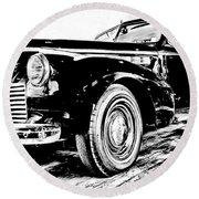 1940 Buick Century Round Beach Towel