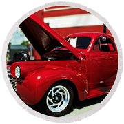 1940 Chevy Round Beach Towel by Kevin Fortier