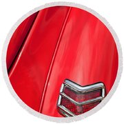 1940 Ford Deluxe Coupe Taillight Round Beach Towel