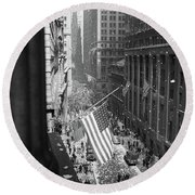 1940s 1945 Aerial View Of Ve Day Round Beach Towel