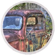 1940s Pickup Truck 2 Round Beach Towel