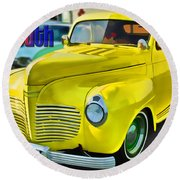 1941 Plymouth Round Beach Towel