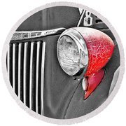 1944 Ford Pickup - Headlight - Sc Round Beach Towel by Mary Carol Story