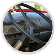 1946 Chevy Dash Round Beach Towel