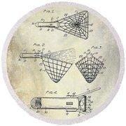 1947 Fishing Net Patent  Round Beach Towel
