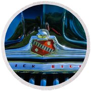 1947 Hood And Grill Round Beach Towel