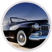 1947 Lincoln Continental Round Beach Towel