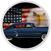 1949 Pontiac Tribute Roger Round Beach Towel by Peter Piatt