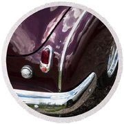 1950 Chevrolet Taillight And Bumper Round Beach Towel