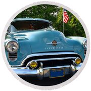 1950 Oldsmobile Round Beach Towel
