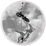 1950s 1960s High-wire Act With Man Round Beach Towel