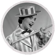 1950s Vaudeville Costume Woman Dancing Round Beach Towel