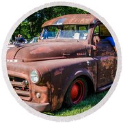 1952 Dodge Pickup Round Beach Towel
