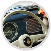 1952 Volkswagen Vw Bug Steering Wheel Round Beach Towel
