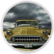 1953 Chevy Round Beach Towel