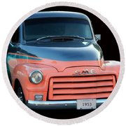 1953 Gmc Pick-up Round Beach Towel