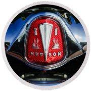 1953 Hudson Hornet Sedan Emblem Round Beach Towel