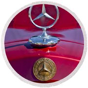 1953 Mercedes Benz Hood Ornament Round Beach Towel