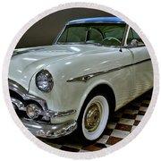 1953 Packard Clipper Round Beach Towel by Michael Gordon