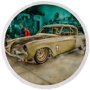 1953 Studebaker Hawk Round Beach Towel
