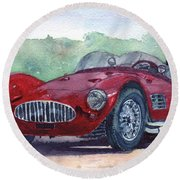 1954 Maserati A6 Gsc Tipo Mm Round Beach Towel