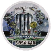 1954 Singer Car 4 Adt Roadster Round Beach Towel
