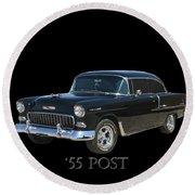 1955 Chevy Post Round Beach Towel
