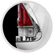 1955 Chevy Rear Light Detail Round Beach Towel