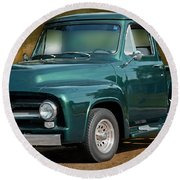 1955 Ford Truck Round Beach Towel