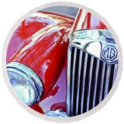 1955 Mg Tf 1500 Grille Round Beach Towel