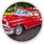 1956 Chevrolet 210 Bel Air Round Beach Towel