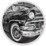1956 Ford Fairlane Round Beach Towel