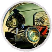 1956 Volkswagen Vw Bug Steering Wheel 2 Round Beach Towel
